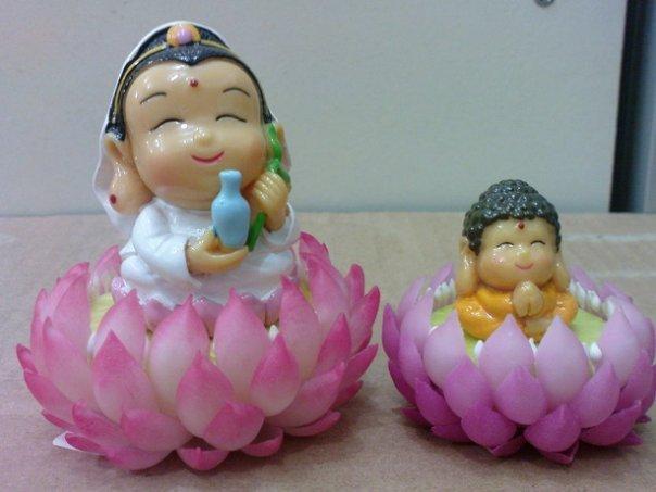 可爱版的佛陀观音像.佛教佛像艺术相片集