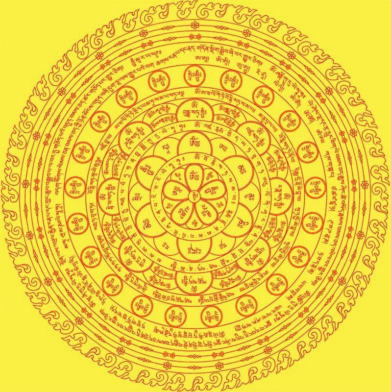梵文咒轮流通版图片